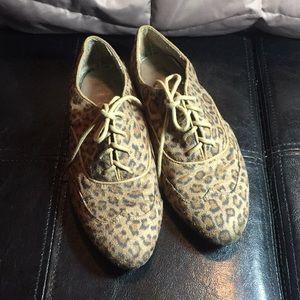 Cheetah print oxfords